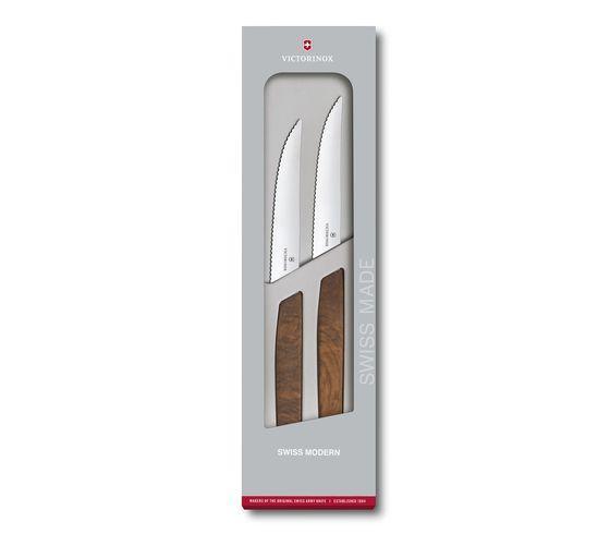 Swiss Modern Steak Knife Set, 2 pieces