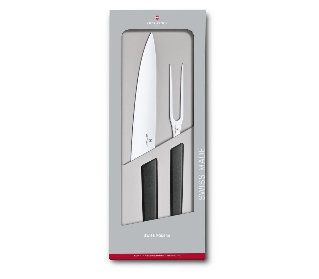sp/ülmaschinengeeignet weintrauben-rot gerader Schliff Stahl 22cm rostfrei Victorinox 6.9016.221B Swiss Modern Tranchiermesser Fleisch schneiden